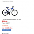 I was not going to blog about this, but recently I saw a post on how Walmart now has an iPhone version of their site.  I have a friend visiting from the UK, and instead of renting a bike for a few days, I did some research and found it […]