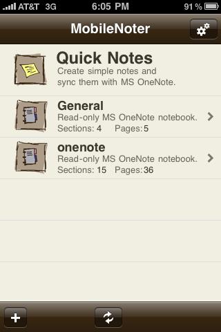mobilebnote menu