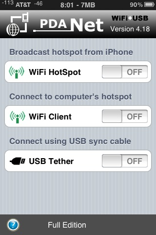 how to connect to internet through iphone