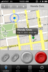 GPS enabled map marker