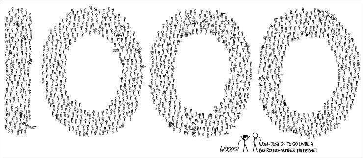 xkcd 1000_comics