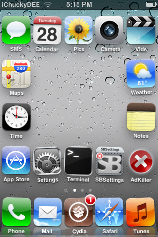 this is the iphone 3gs with the tweaks. Excluding Multicon mover (it was camera shy