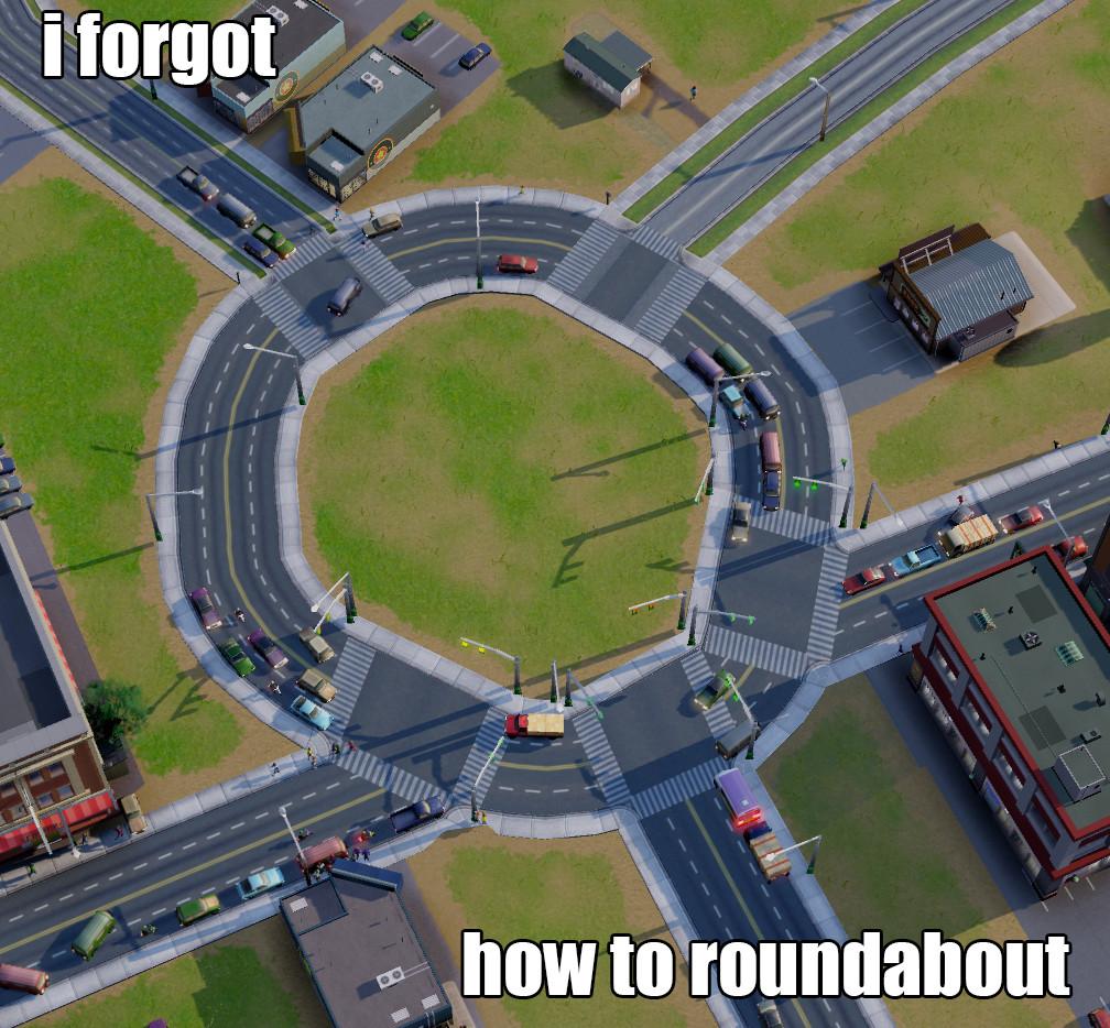 simcity roundabout