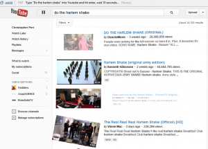 youtube do the harlem shake